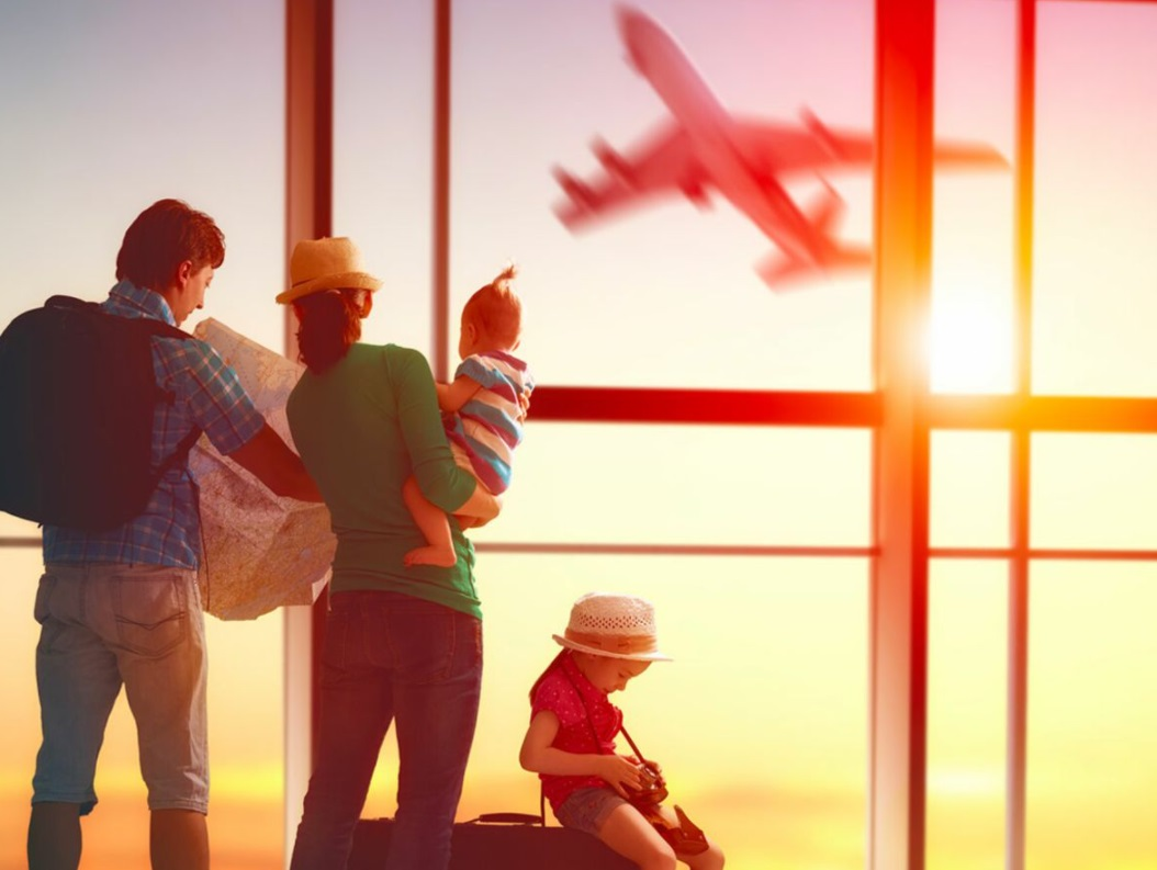 Une famille part en vacances