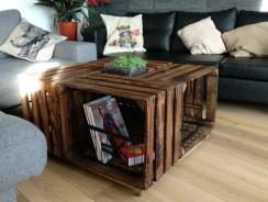 Caisse à pommes : faire une table basse
